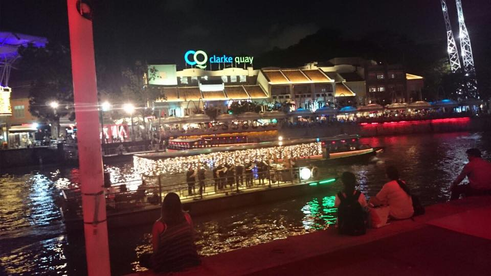 Our floating choir at Christmas By The River