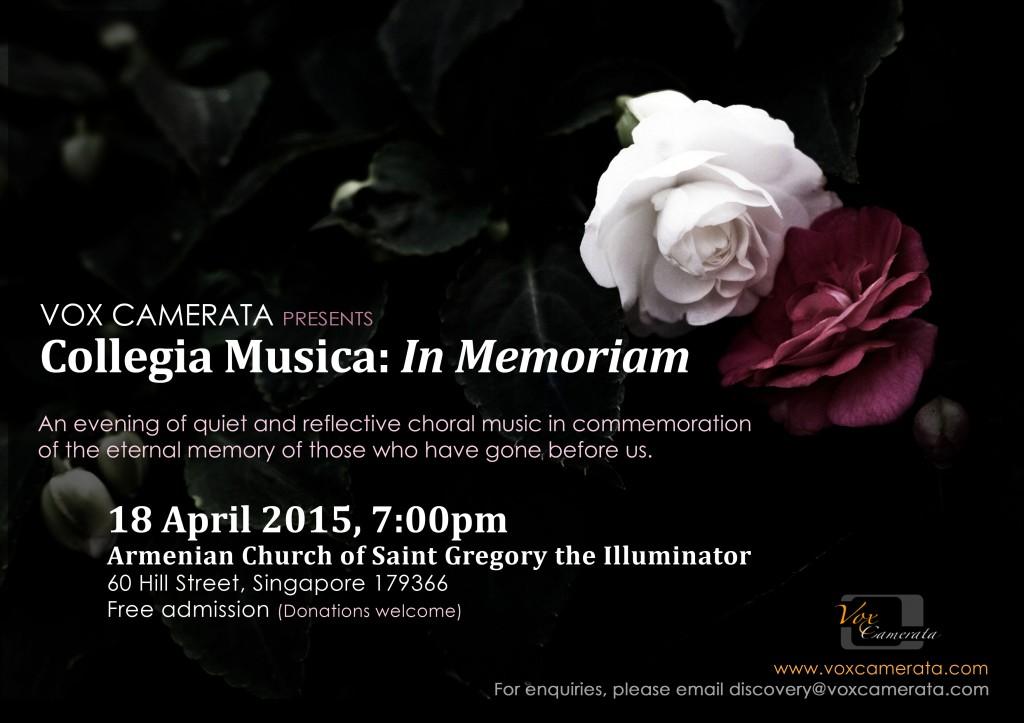 VC2015 - Collegia Musica: In Memoriam