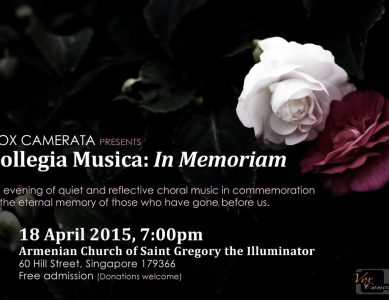 Vox Camerata presents Collegia Musica: In Memoriam