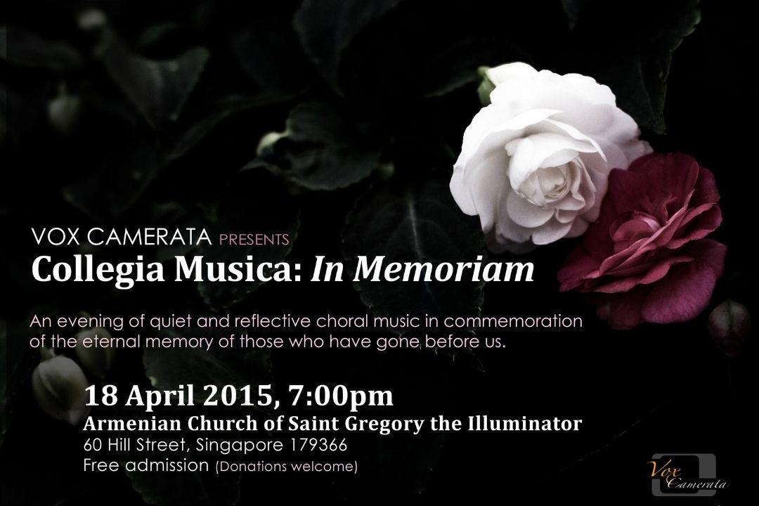 Vox Camerata presents Collegia Musica: In Memoriam
