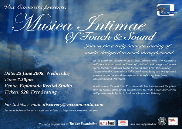 Musica Intimae: Of Touch & Sound