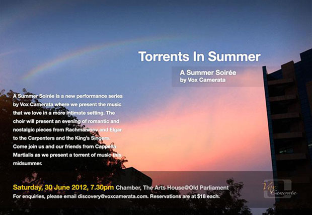 Summer Soireé: As Torrents In Summer