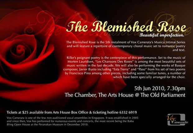 Musica Intimae: The Blemished Rose