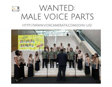 Male Voice Parts Wanted