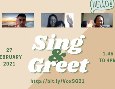 Sing & Greet 2021 (Online)