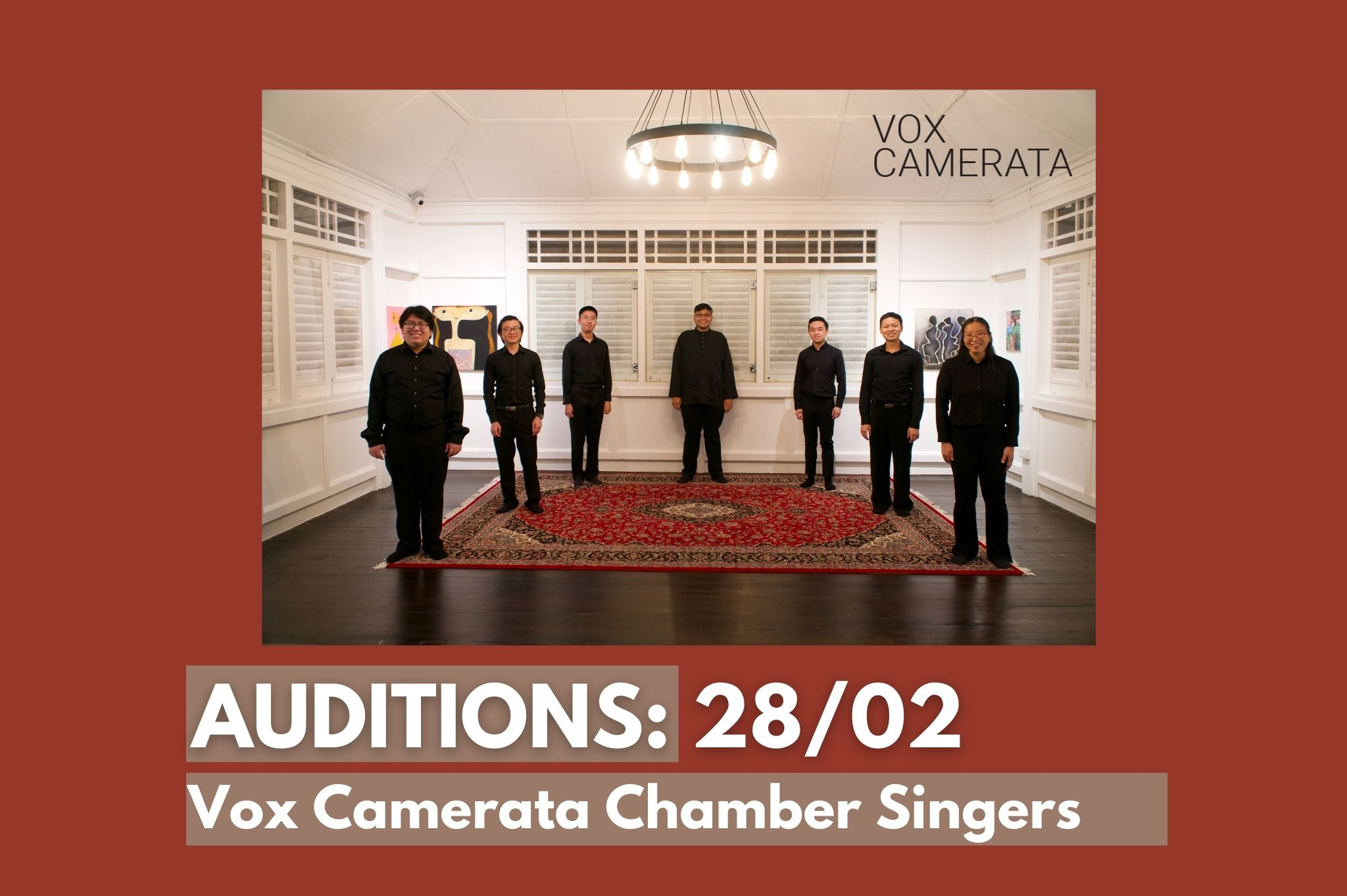 Vox Camerata Chamber Singers Auditions 2021
